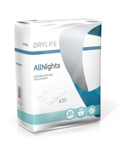 Drylife All Nights Bed Pads 60x90cm