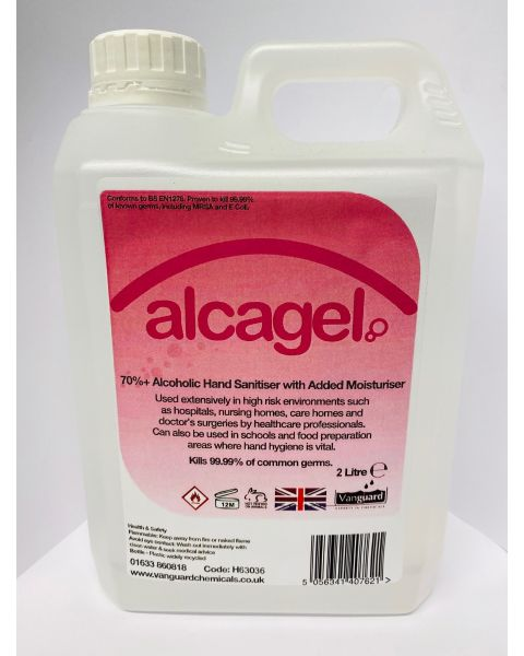 Vanguard Alcagel® Hand Sanitiser 70% Alcohol (2 Litre)