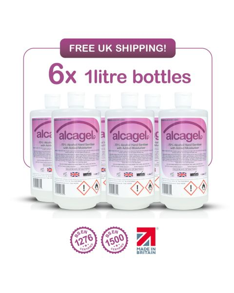 Vanguard Alcagel® 70% Alcohol Hand Sanitiser (6 x 1 Litre)