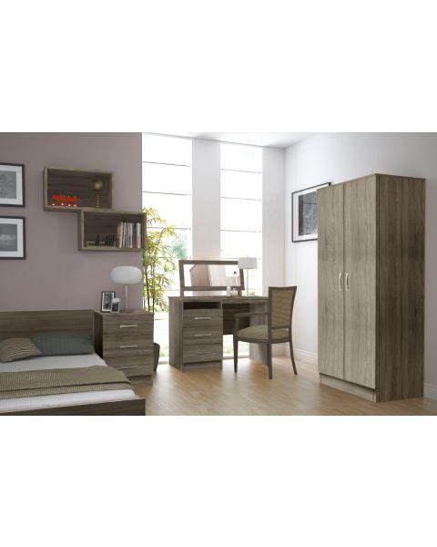 The Classic Bedroom Furniture Set in Truffle Oak