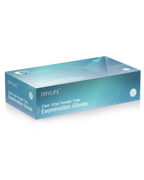 DryLife Clear Vinyl Gloves - Medium - Box of 100