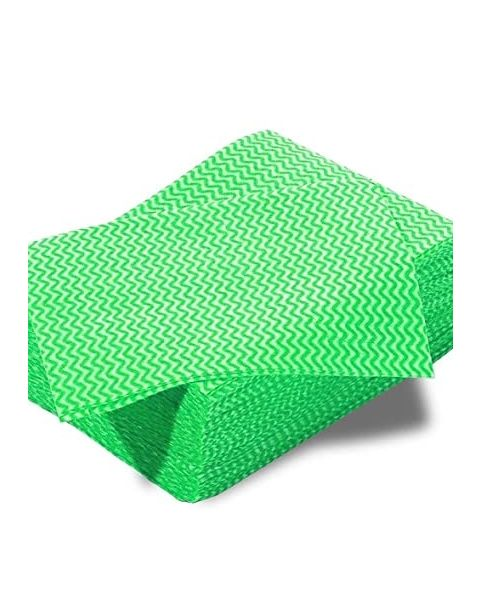 Lightweight Disposable Wipe Green (100)
