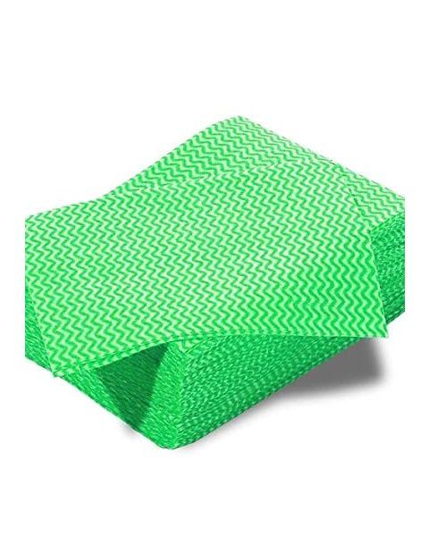 Lightweight Disposable Wipe Green (100)
