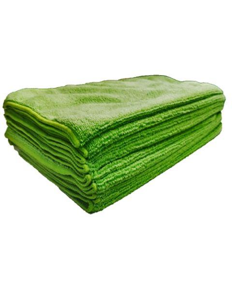 Microfibre Cloths Green 230gsm  (10)