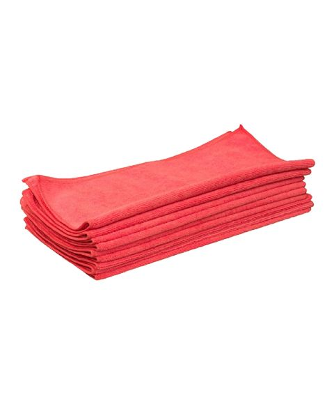 Microfibre Cloths Red 230gsm (10)