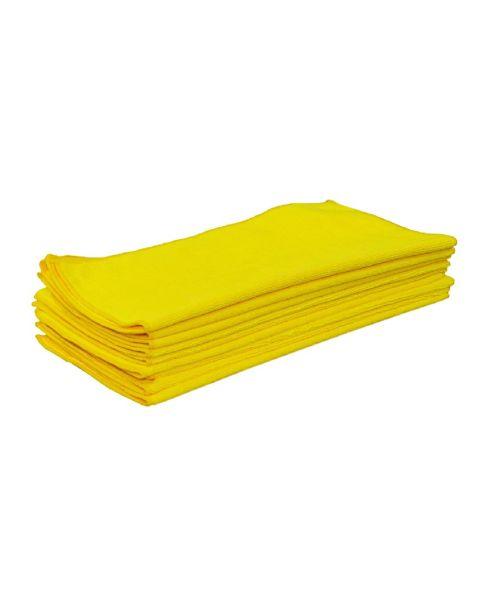 Microfibre Cloths Yellow 230gsm (10)