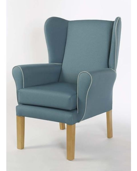 YORK QUEEN ANN STYLE DAY CHAIR WITH BEECH LEGS